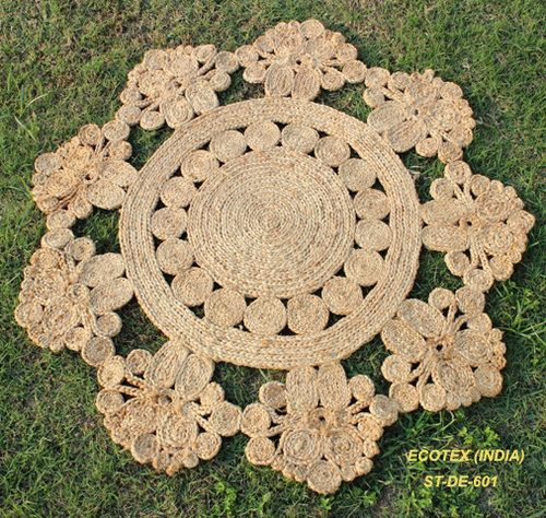 Ecotex India Exporter And Manufacturer Of Decorative Round Jute Rug In Prince Anwar Shah Road Kolkata West Bengal Get Deals On