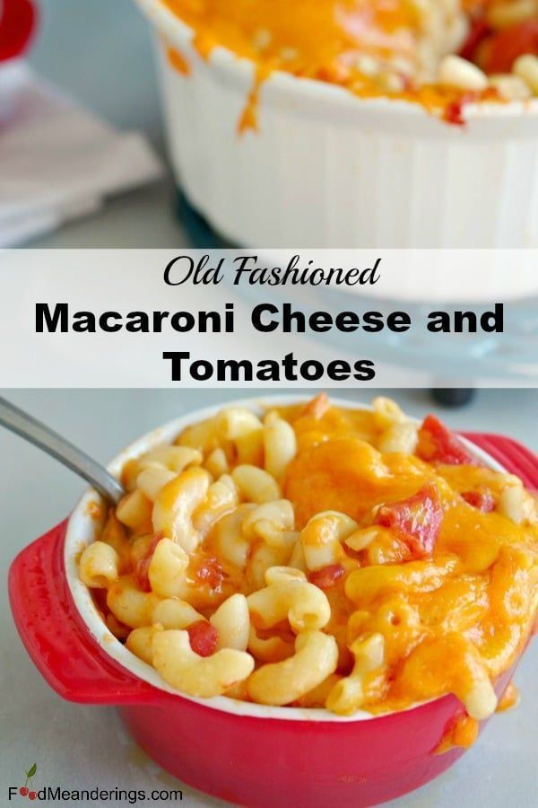 old fashioned Mac and Cheese with Tomatoes is made 3 simple ingredients - macaroni, cheddar cheese and tomatoes. It's real food and comfort food at its finest!This old fashioned Mac and Cheese with Tomatoes is made 3 simple ingredients - macaroni, cheddar cheese and tomatoes. It's real food and comfort food at its fi...