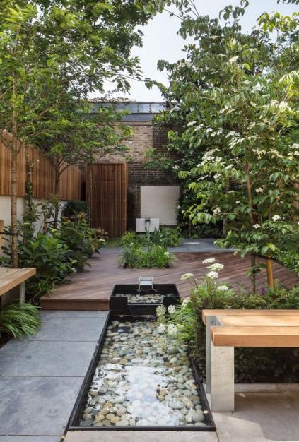 25 Einfache Und Moderne Gartengestaltung Terrace Garden Design Modern Landscaping Modern Garden Design