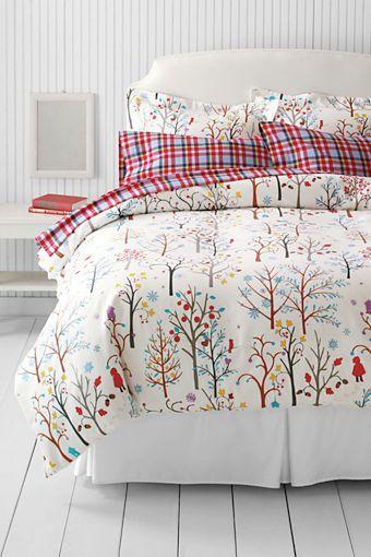 Girls Chalk Print Flannel Duvet Cover Or Sham From Lands End 99 Flannel Duvet Cover Flannel Bedding Flannel Duvet