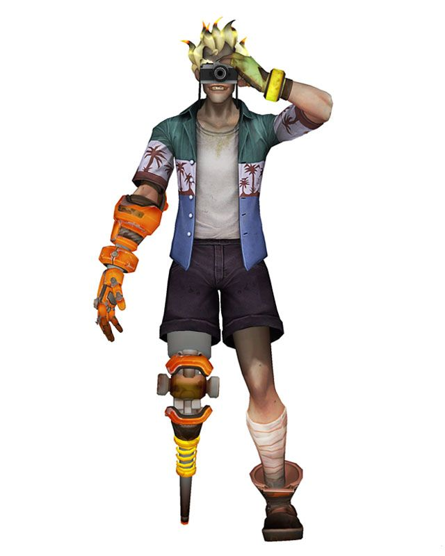 Mmd Overwatch Junkrat Tourist Mod By Arisumatiodeviantartcom On