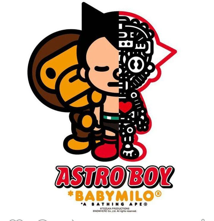 Astroboy Babymilo Bape Ape Design Comics Astro Boy A Bathing
