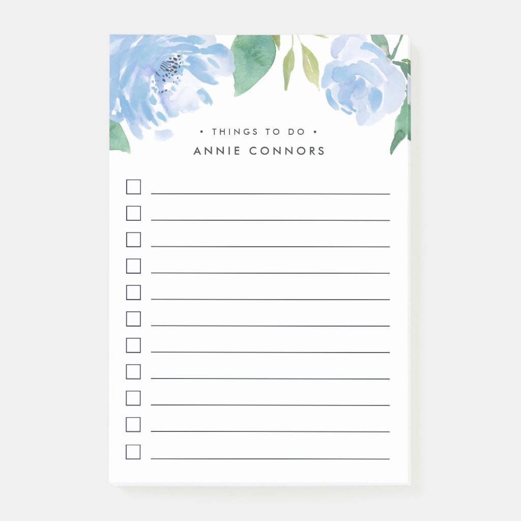 Blue Peony | Personalized To Do List Post-it Notes | Zazzle.com #bluepeonies Blue Peony Personalized To Do List Post-it Notes #bluepeonies