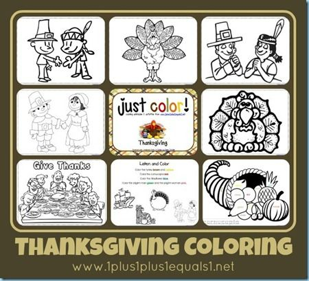 Thanksgiving ~ Just Color! - 1+1+1=1