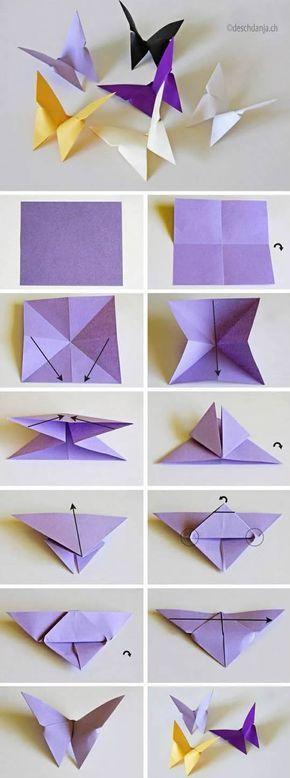 Photo of Wie man Origami Schmetterlinge Schritt für Schritt macht – Super einfach – #diy…