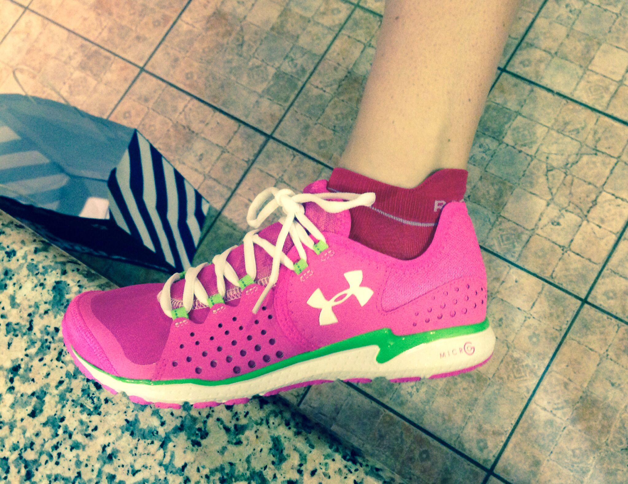 My new Under Armour trainers :-)  Can't wait to try em out!!