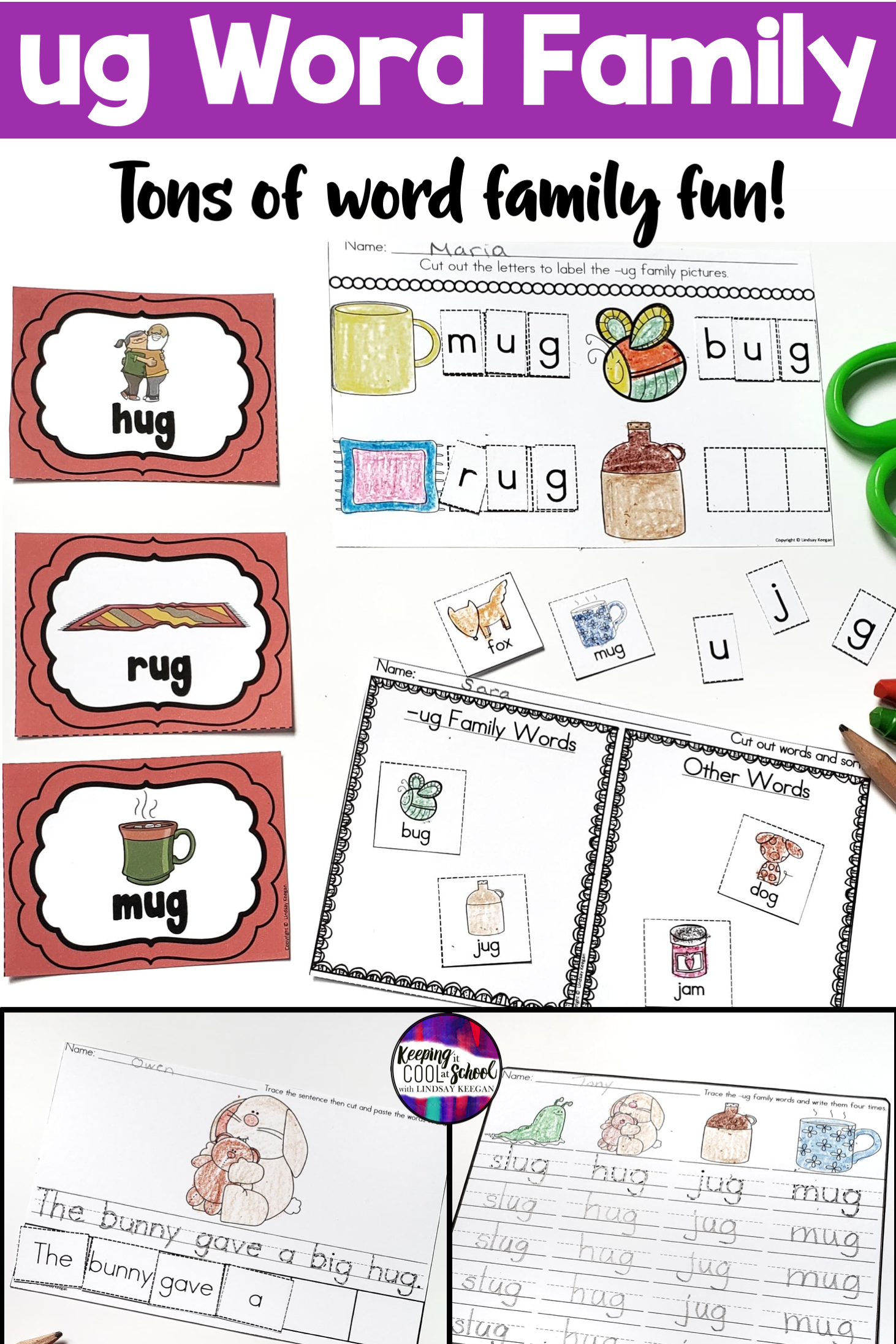 Ug Word Family Worksheets