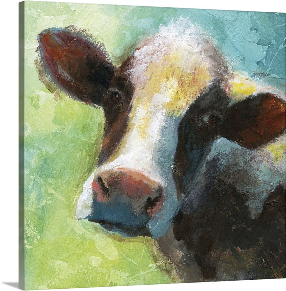 Colorful Quirky Cow Cow Canvas Cow Paintings On Canvas Cow Painting