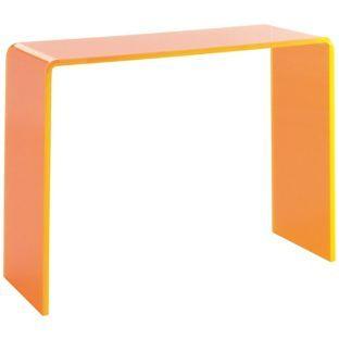 Buy Habitat Ebbie Neon Acrylic Orange Console Table at Argoscouk