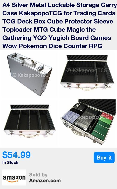 Lockable Briefcase For Storing Trading Cards Toploaders Deck Boxes Board Games Dice And Counters S Magic The Gathering Deck Box Magic The Gathering Cards