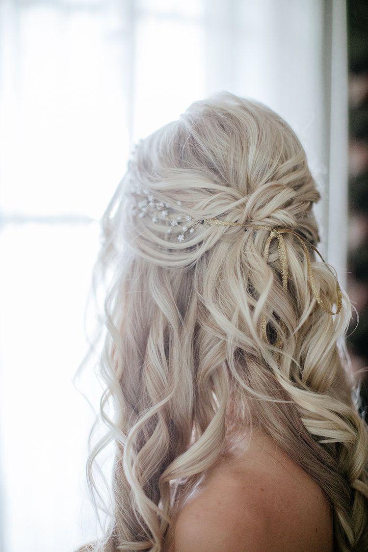 wedding hairstyles half up, icy blonde wedding hairstyles
