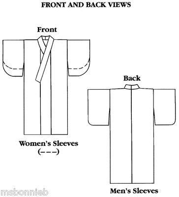 Folkwear Japanese Kimono Sewing Pattern 113 Informal Yukata Misses