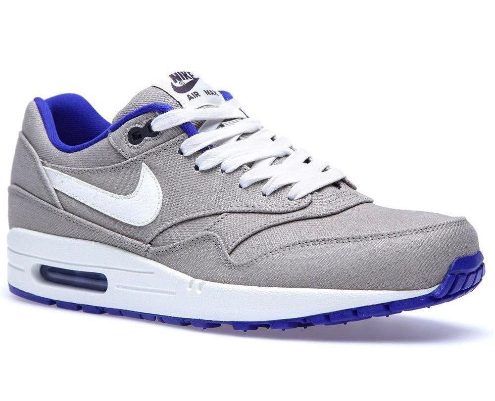 Nike #AirMax 1 PRM #Denim Classic Stone Hyper Blue
