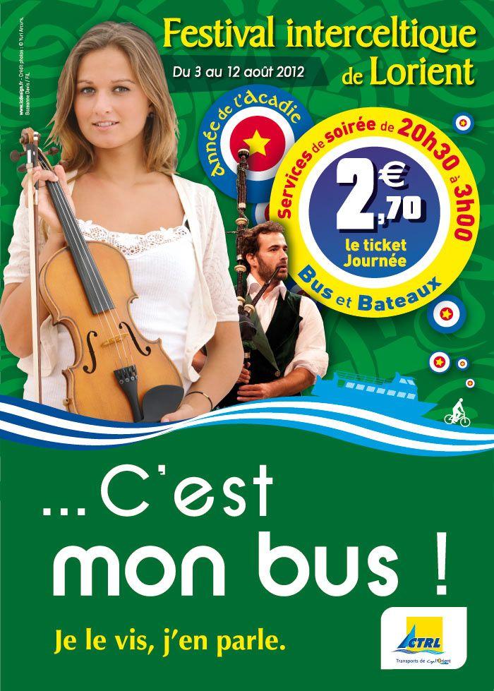 Affiches pour le festival Interceltique 2012