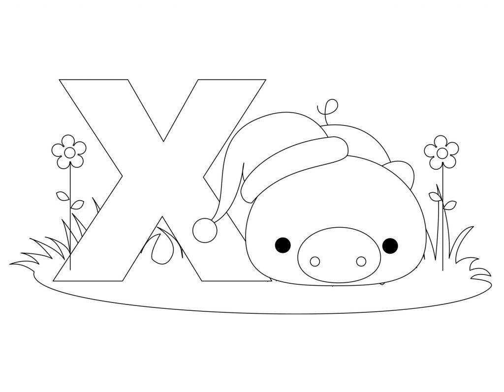 Alphabet Coloring Pages  Letter X  Templates