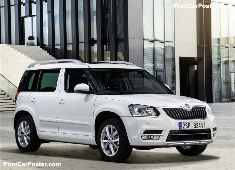 Skoda Yeti 2014 Poster Skoda Car All Cars Compact Suv