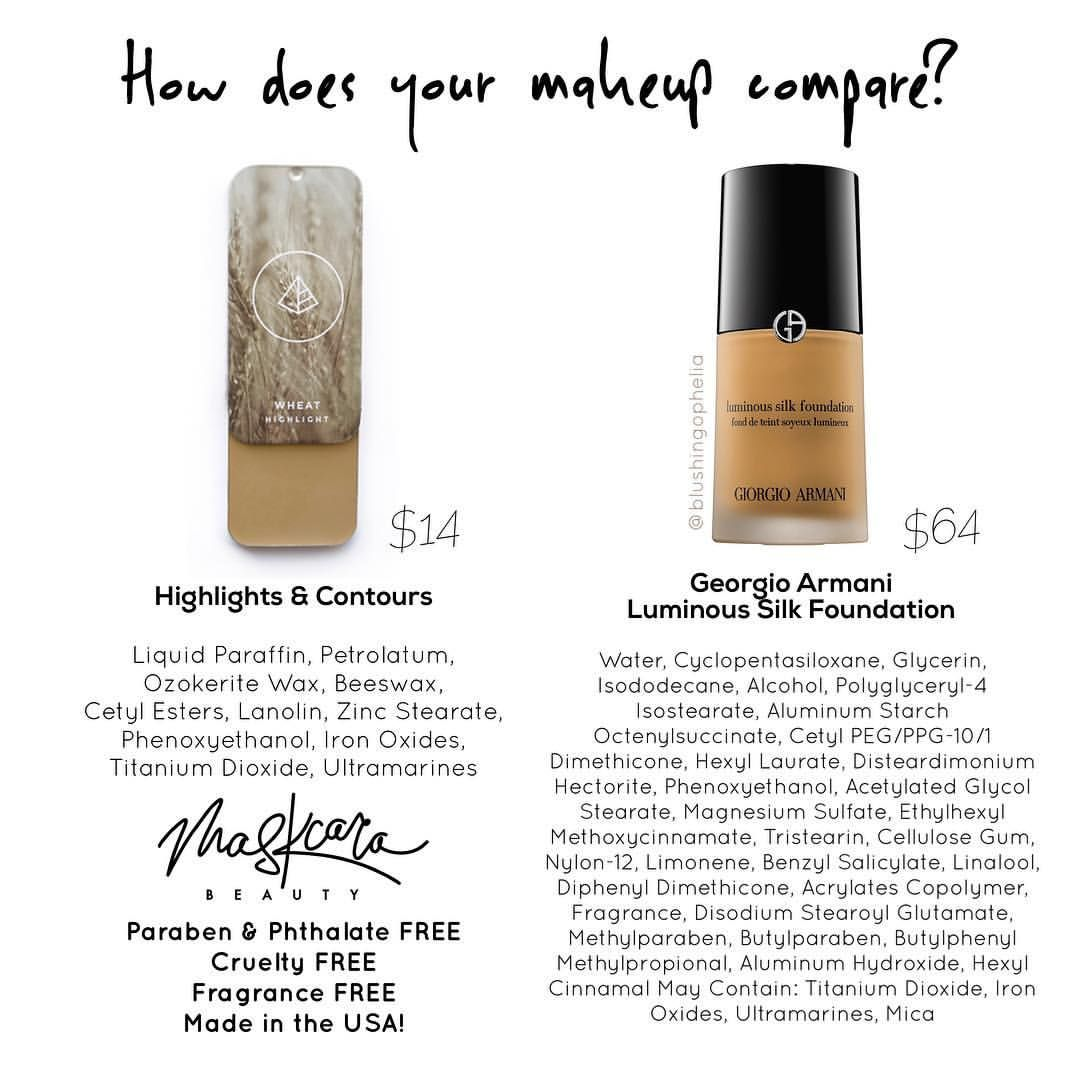 How does your makeup compare? Maskcara Beauty uses simple