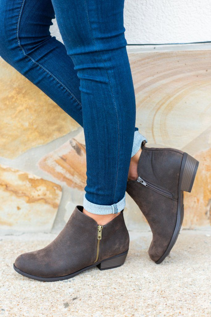 Never Be The Same Booties, Brown - Never Be The Same Booties, Brown #booties