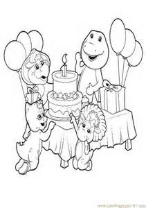 Coloring Pages Coloring Barney Birthday Coloring Pages Cartoon