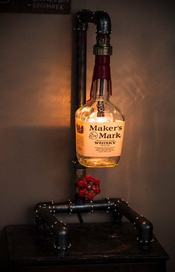 Like This Cool Industrial Liquor Bottle Lamp? Now Available For Sale On My  Etsy Shop