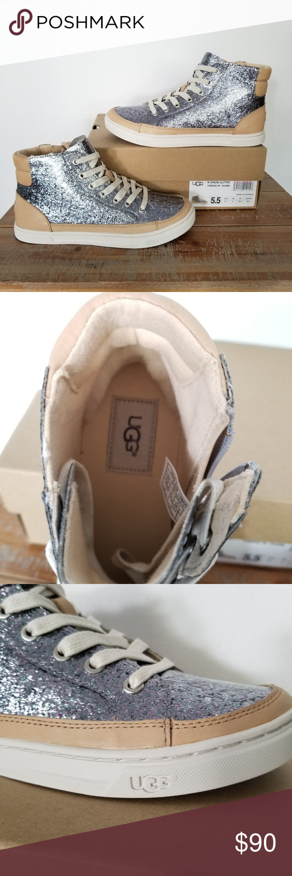 b7d460f22a9 UGG Gladie Glitter High-Top Sneakers Brand NEW UGG Gradie High-Top ...