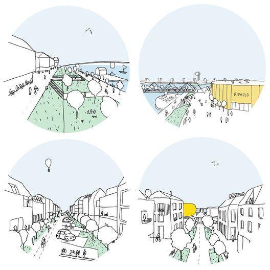 Schwedisches Team gewinnt Urban Design Wettbewerb in Trenčín, zweiter Platz. Bild Gericht ... #urbaneanalyse
