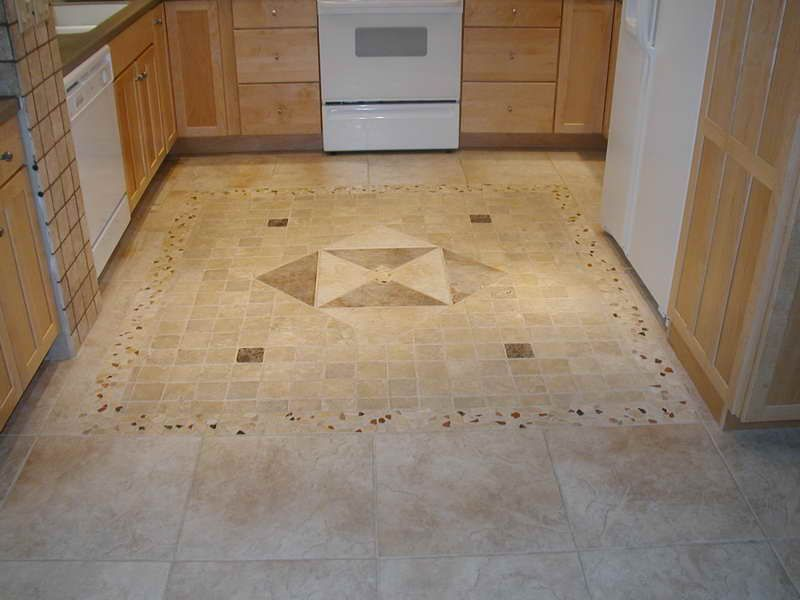 porcelain tile with decorative inlay for a kitchen area description from pinterestcom i searched for this on bingcomimages home pinterest - Kitchen Floor Design Ideas