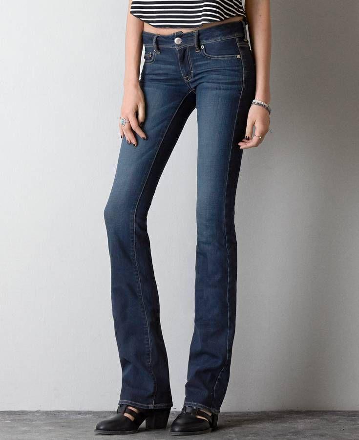 Kick Boot Cut Jeans, Women's, Dark Clean Indigo