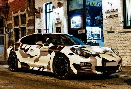 Porsche Panamera Camouflage Wrap 2 Porsche Panamera Porsche Chevrolet Corvette Stingray