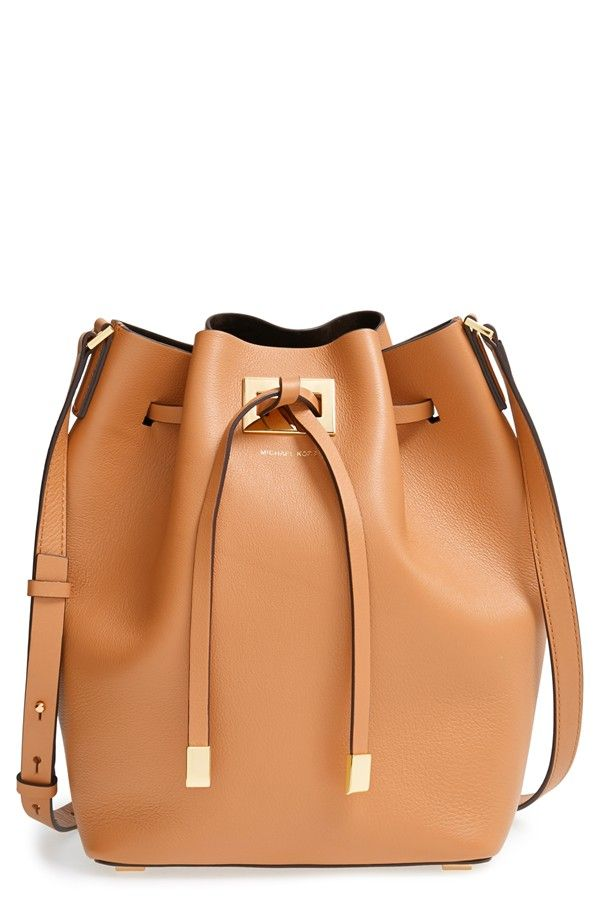 Michael Kors Large Miranda Leather Bucket Bag