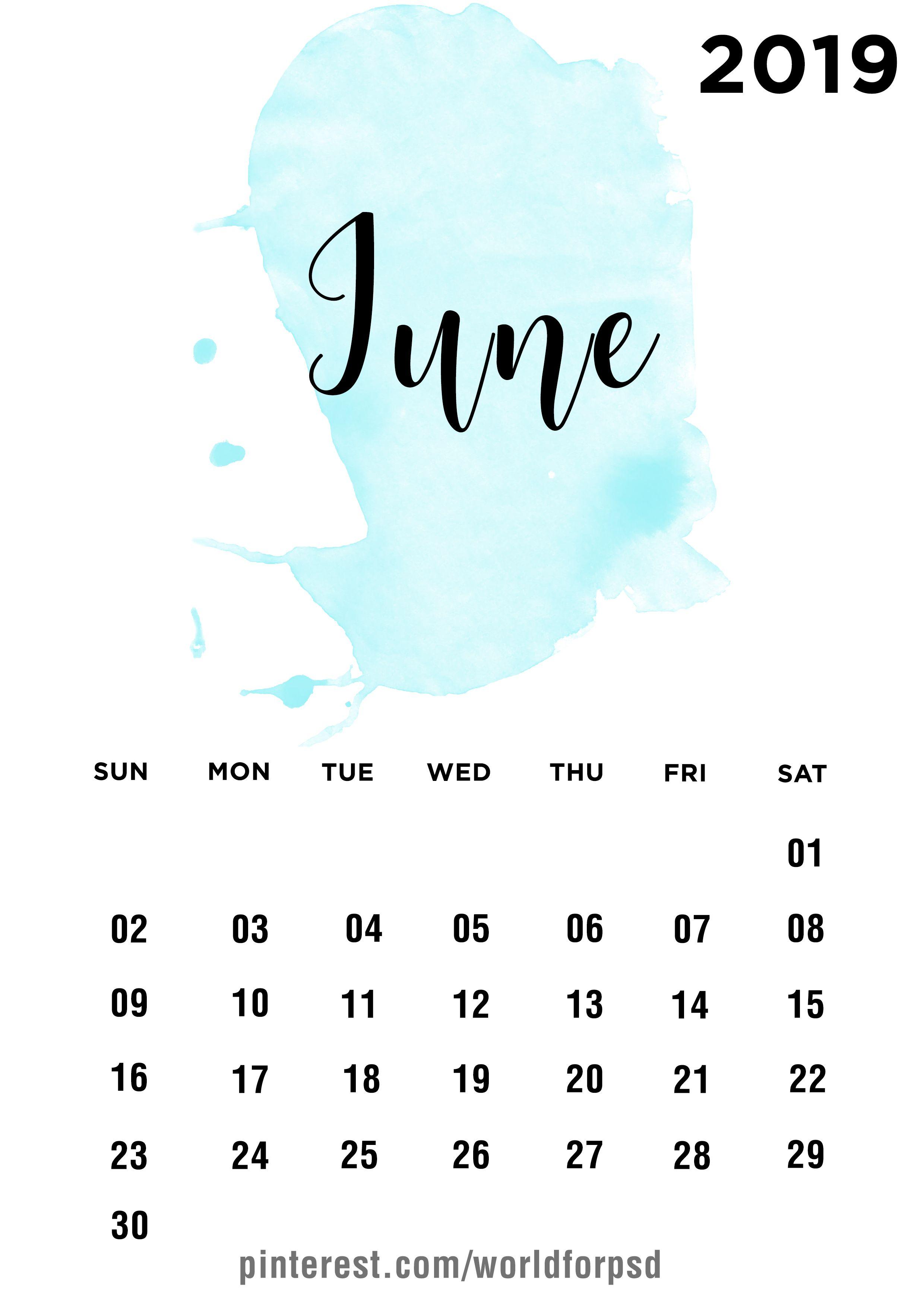 June 2019 Calendar Design Calendar Calendarideas Newyear