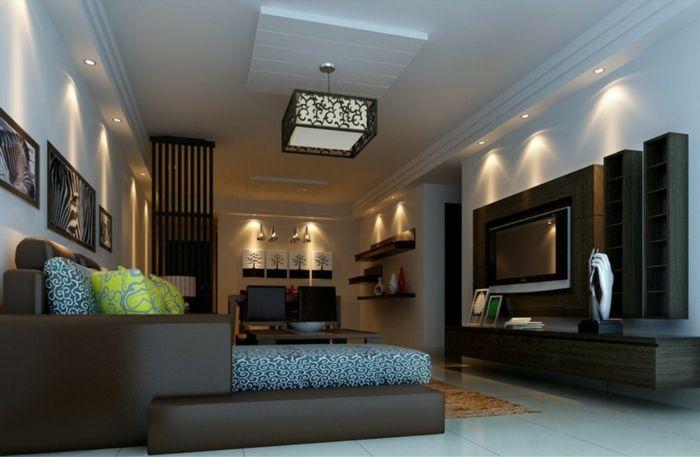 Deckenbeleuchtung Wohnzimmer ~ Deckenbeleuchtung wohnzimmer eingebaute leuchten wohnen