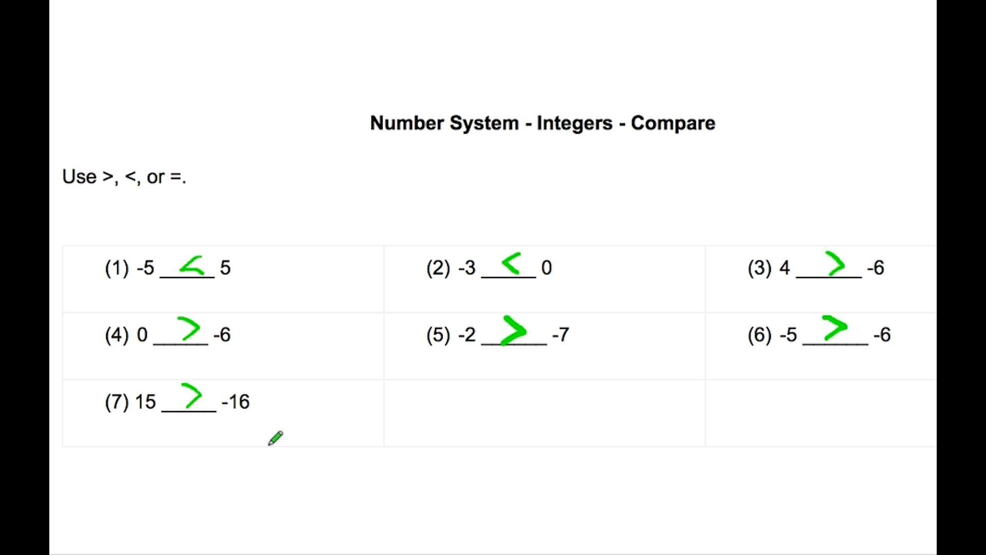 Pre Algebra Numbersystem Integers Compare Learning Math Math Videos Pre Algebra [ 1080 x 1920 Pixel ]