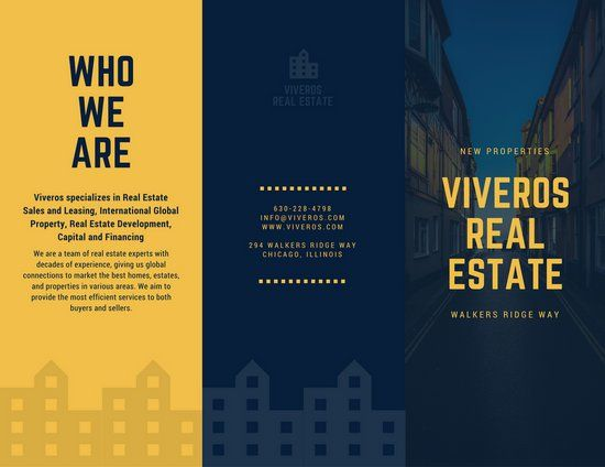 Yellow Blue Real Estate Marketing Brochure  Emergency