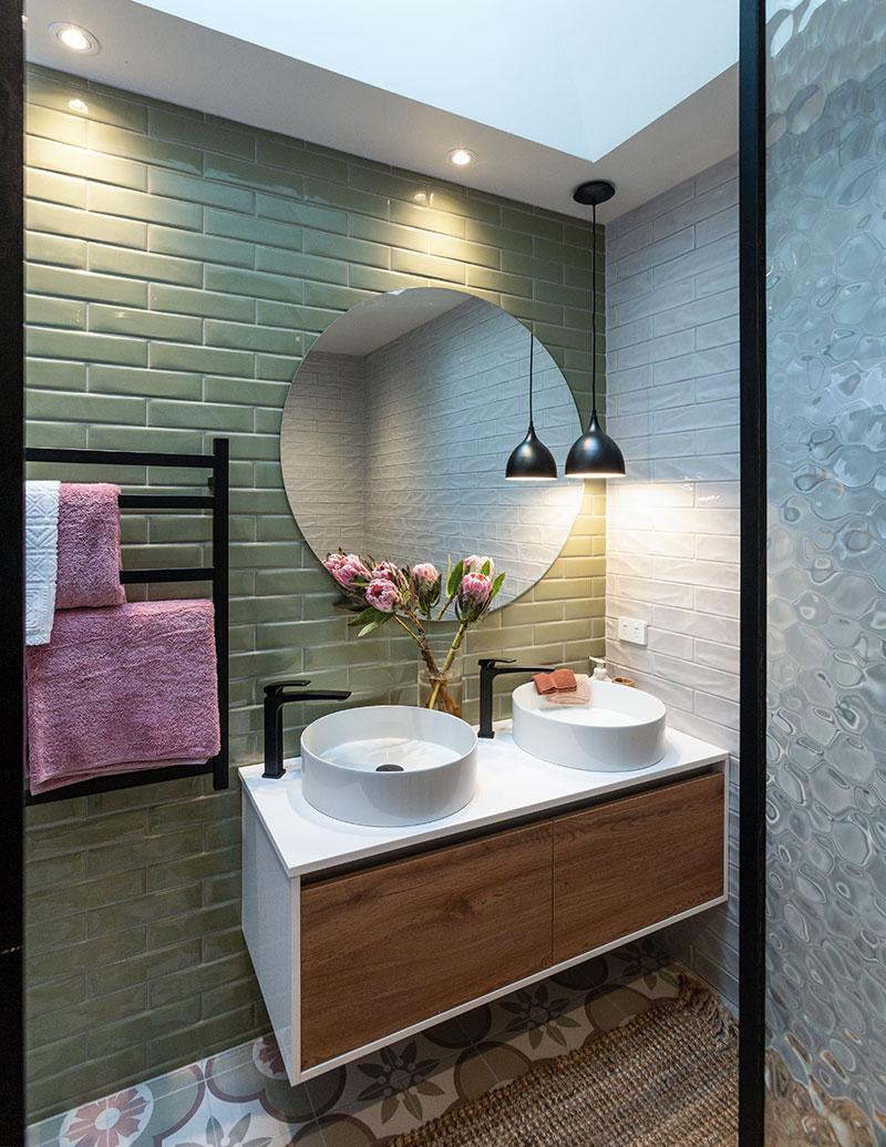 Liverpool Pistache Gloss 7x24 Floor And Wall Tiles Tilespace Tiles Co Nz In 2020 The Block Nz Master Bathroom Renovation Master Bedroom Bathroom