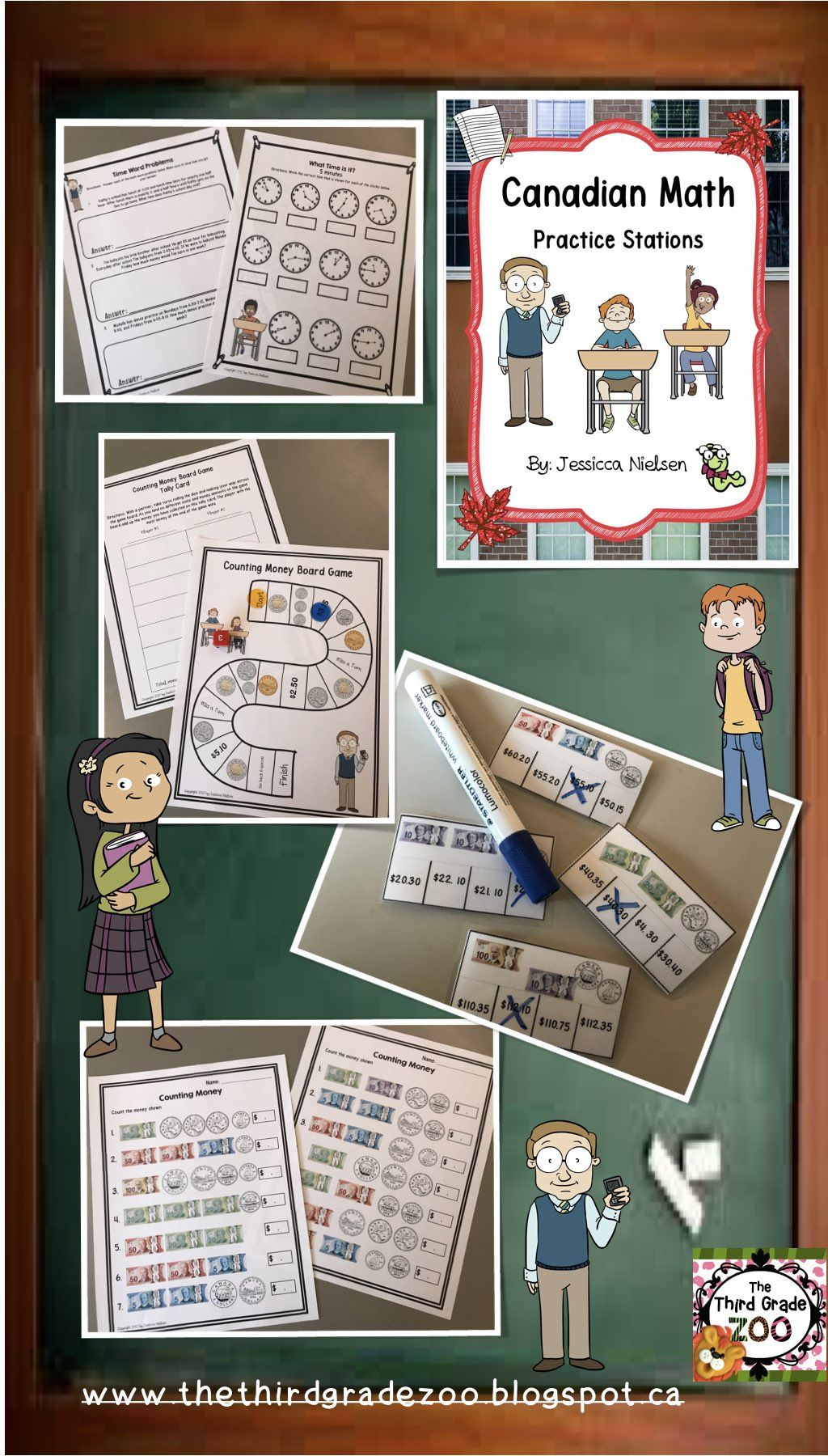 Distance Learning Canadian Math Practice Stations