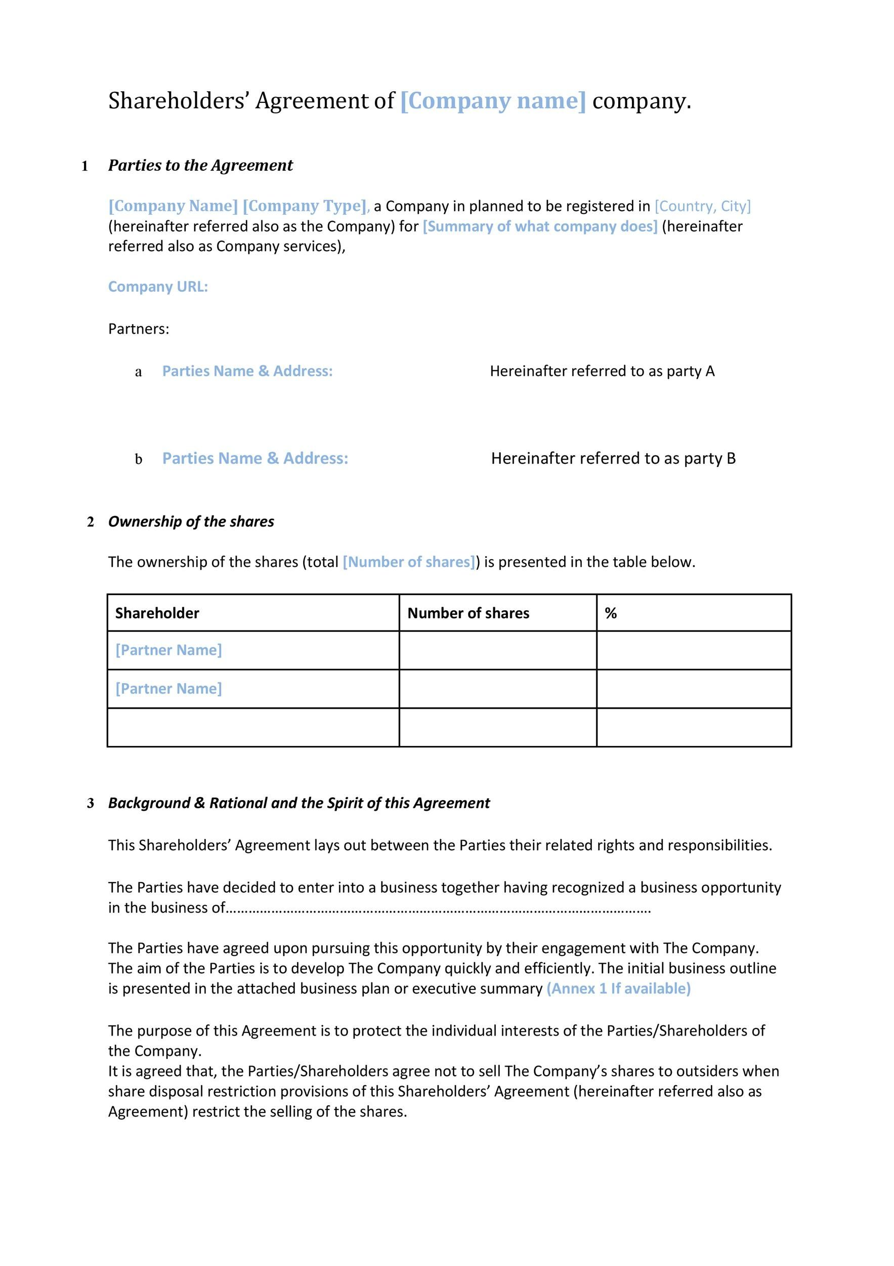 Stockholder Agreement Template In 2021 Templates Graphic Design Templates Word Template