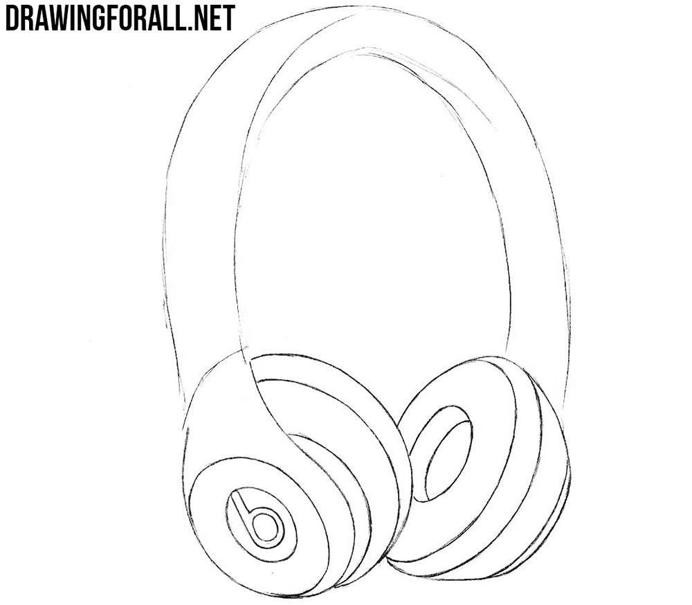 How To Draw Beats Headphones Headphones Drawing Beats Headphones Beats