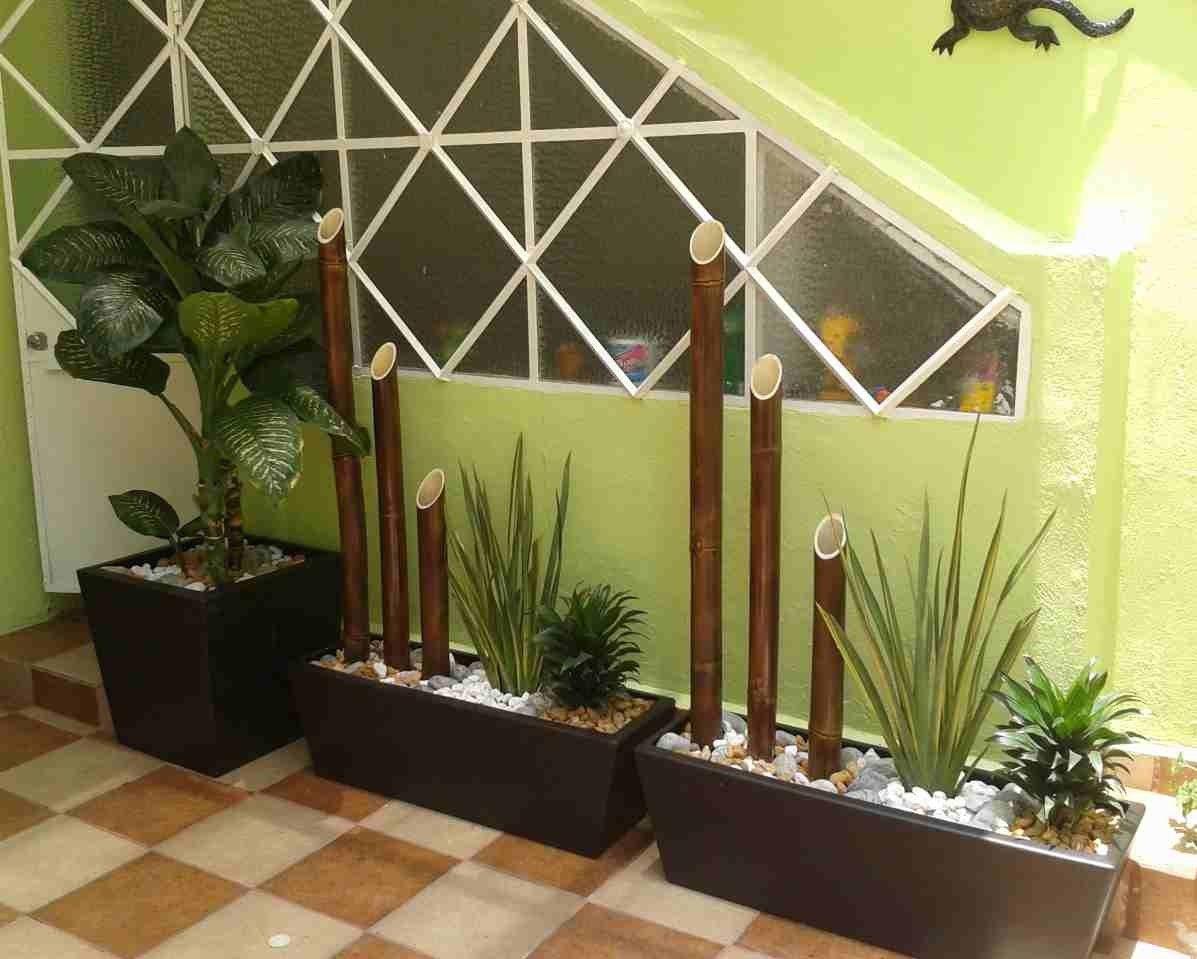 Jardineras exteriores con dise o portones pinterest - Jardineras con bambu ...