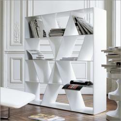 Italian Designer Shelf X Extra Large Bookcase Side View Bookshelves Creativebookshelves