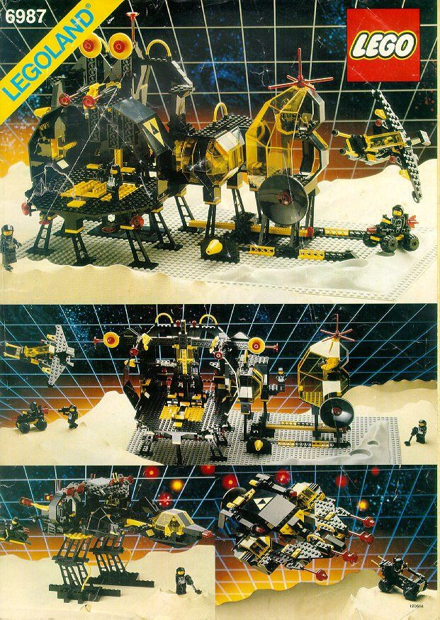 Lego Instructions 6987 Message Intercept Base Blacktron Throwback