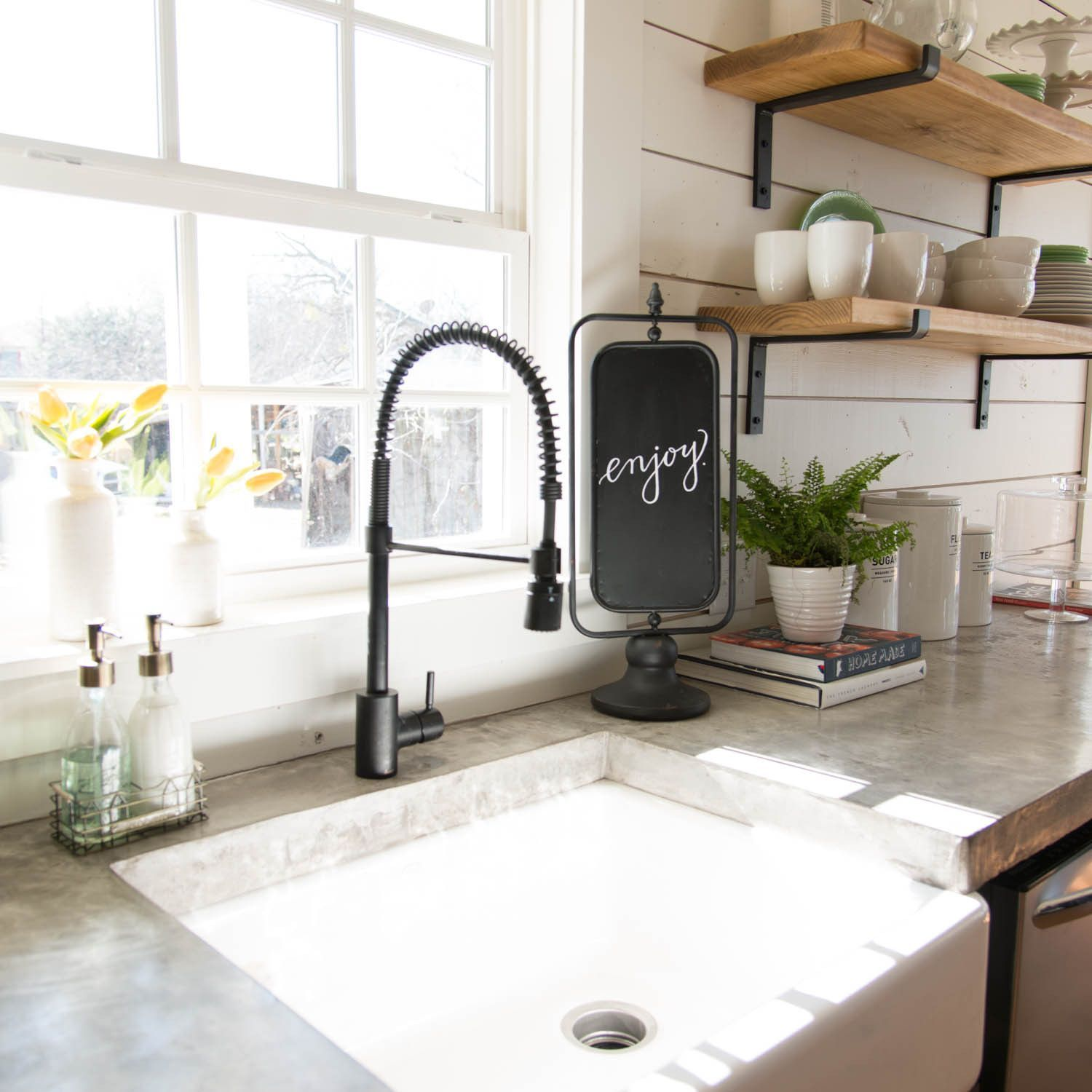Fixer upper kitchen soap dispenser - Used In All Seasons Of Fixer Upper Our Spinning Blackboard Is A Cute Way To Welcome Guests Into Your House Or Have An Inspirational Quote Up