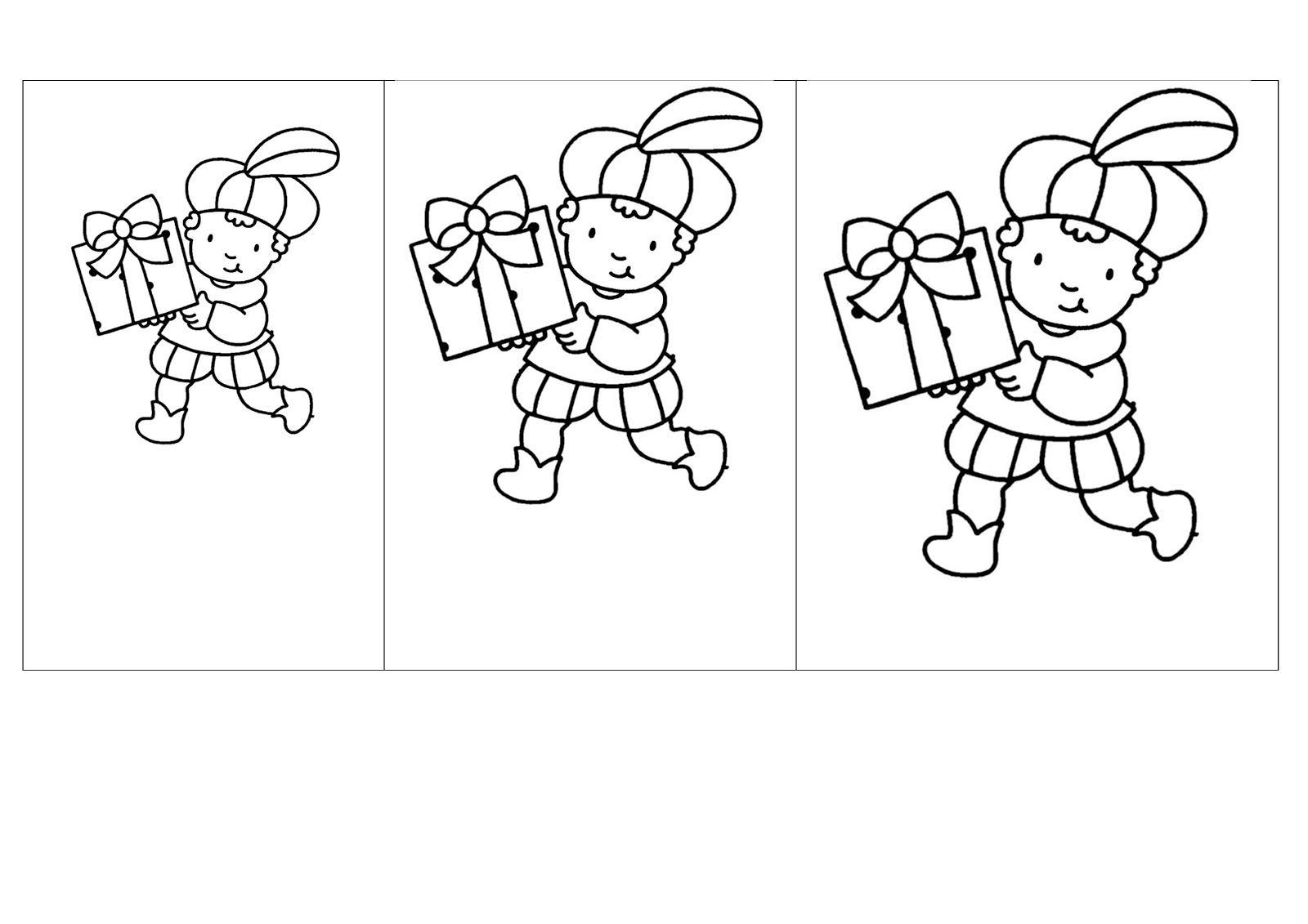 Groot Klein Sinterklaas Thema Zwarte Piet