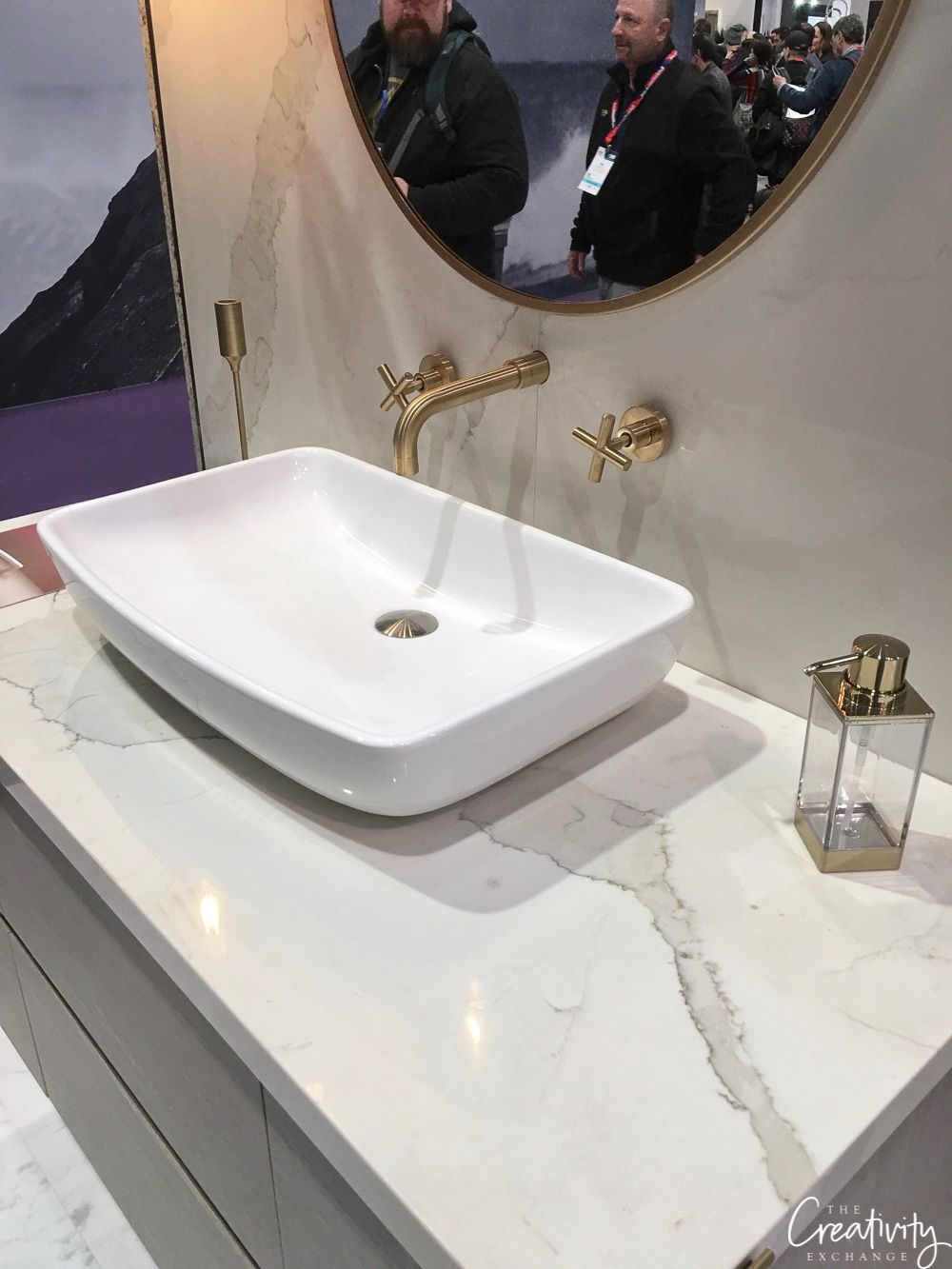 Best Material For Countertops 2019 2019 Kitchen and Bath Industry Show in Las Vegas   Master bathroom