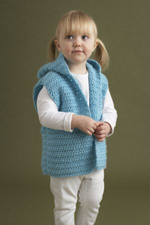 Knitting Pattern Vest Child : Cute childs crochet vest: free pattern child crochet Pinterest Yar...