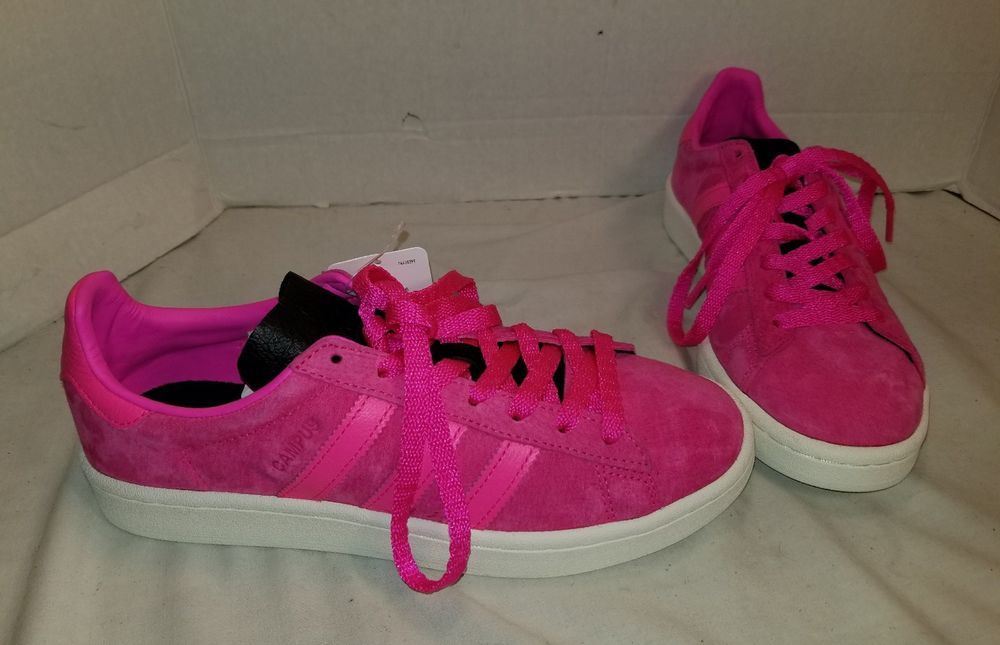 NEW MEN S ADIDAS CAMPUS SHOCK PINK SUEDE SNEAKERS SIZE US 6.5 EUR 39.33   adidas   1300775eefaf