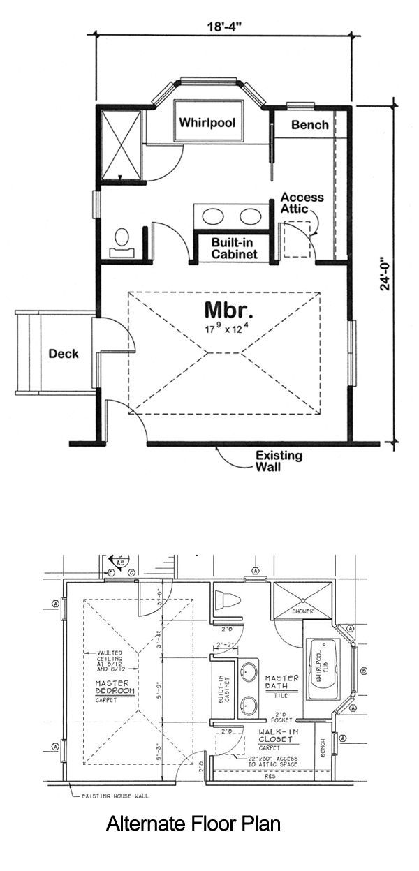 Plan 90027 Master Bedroom Addition For One And Two Story Homes Bedroom Addition Plans Master Bedroom Plans Master Bedroom Addition