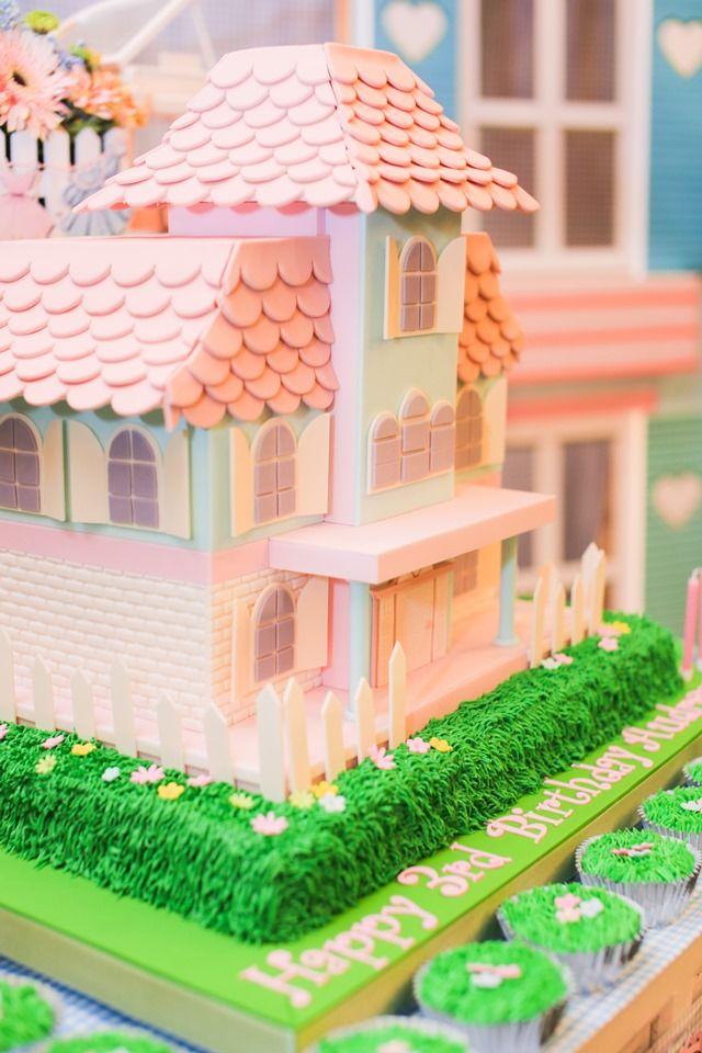 Audrey S Dollhouse Themed Party 3rd Birthday Dollhouse Themed
