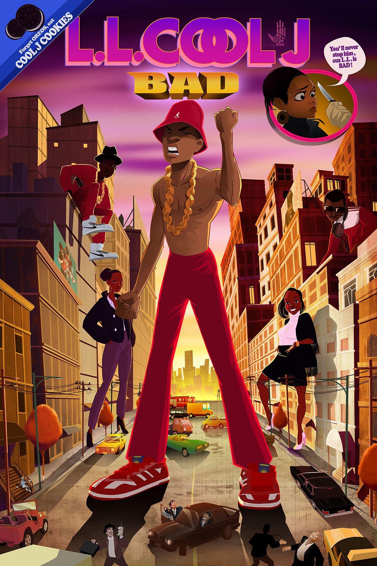 BAD on Behance in 2020 Hip hop artwork, Hip hop art, Hip