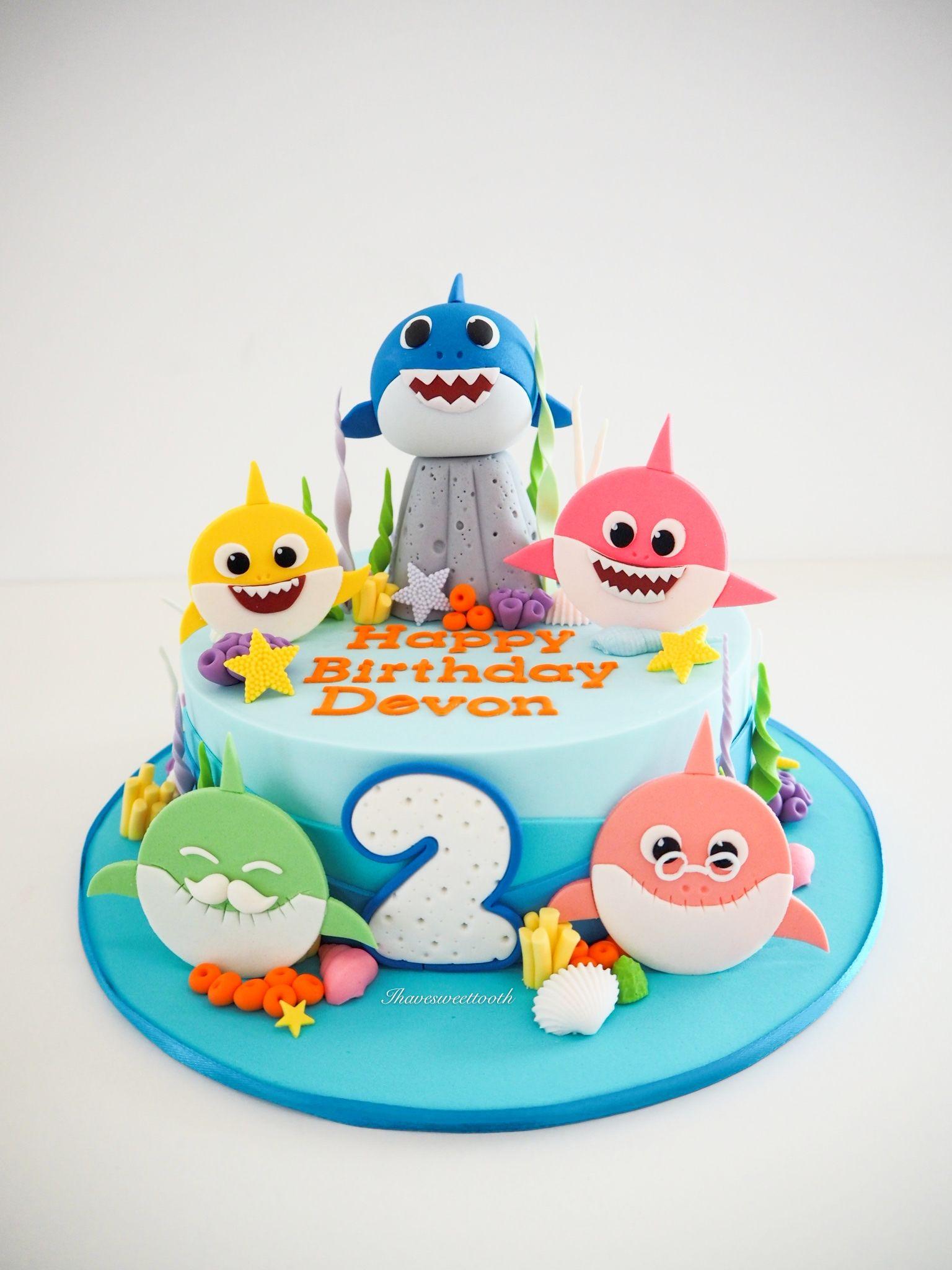 27+ Baby shark birthday cake for boy ideas in 2021